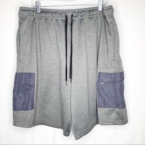 Men's Everlast Grey Basketball Athletic Shorts 2XL